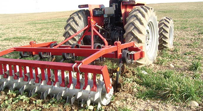 Double Coil Spring Tines Cultivator