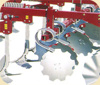 delta-7 cultivator Shear and protective disc springs